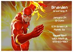 The Flash Birthday Invitation By TheCashmerePeacock On Etsy