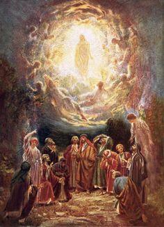 Jesus Ascending Into Heaven Painting