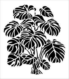 Monstera stencil from The Stencil Library VINTAGE range Buy stencils online Stencil code Stencil Templates, Stencil Patterns, Stencil Designs, Leaf Stencil, Stencil Art, Tree Stencil, Tribal Tatoos, Stencils Online, Cheese Plant