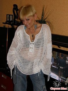 Crochet T Shirts, Crochet Cardigan, Knit Or Crochet, Crochet Clothes, Shrugs And Boleros, Crochet Shawls And Wraps, Freeform Crochet, Embroidered Clothes, Crochet Designs