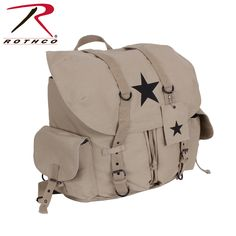 Rothco Vintage Khaki Weekender Canvas Backpack