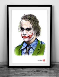 The Joker Heath Ledger: The Dark Knight   by artofsupershinobi
