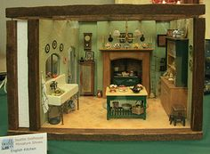 Photos of Roomboxes from the Fall 2010 Seattle Dollhouse Miniature Show: Defined by Beams