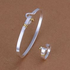 925 silver jewelry set fashion jewelry set Ring Bangle Jewelry Set