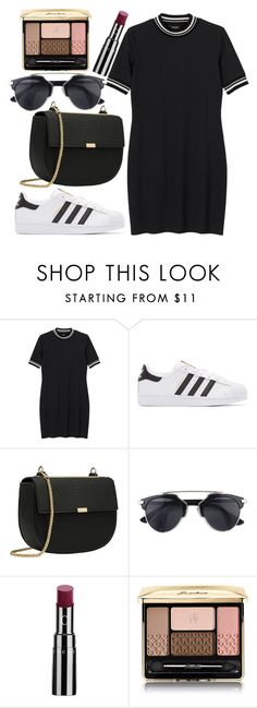 """Untitld#1454"" by mihai-theodora ❤ liked on Polyvore featuring Monki, adidas Originals, Chantecaille and Guerlain"