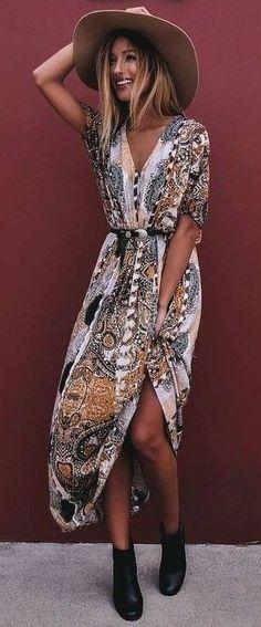 #summer #flirty #outfitideas Wild Print Maxi Dress                                                                             Source
