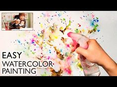 Dandelion Painting Techniques for Beginners Watercolor Paintings For Beginners, Watercolour Tutorials, Watercolor Techniques, Painting Techniques, Watercolor Splatter, Watercolor Artists, Watercolor Tips, Watercolour Painting, Watercolor Flowers