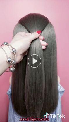 ジュエリー Haircuts For Long Hair, Hairstyles For School, Braided Hairstyles, Simple Hairstyles, Popular Hairstyles, Hairstyles Haircuts, Pinterest Hair, Hair Videos, Hair Hacks