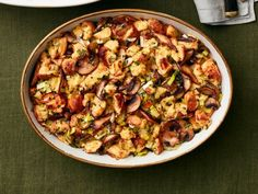 Mushroom Brioche Stuffing : A variety of mushrooms adds a meaty texture to this stuffing that both carnivores and vegetarians can enjoy.