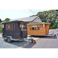 tiny house japan (@tinyhousejapan) • Instagram-bilder og -videoer Japanese Tiny House, Recreational Vehicles, Shed, Outdoor Structures, Instagram, Wheelbarrow, Camper, Barns, Sheds