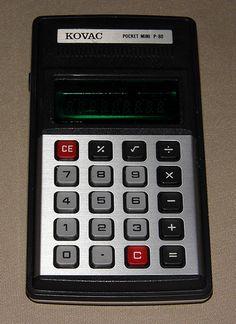 Vintage Kovac Pocket Mini LED Electronic Calculator, Model P-80, Made in Japan, Circa 1976.