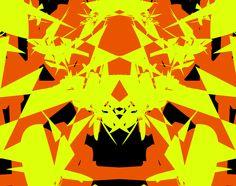 #AlchemyPatterns #colour #yellow #orange #black #art #design #digital #design