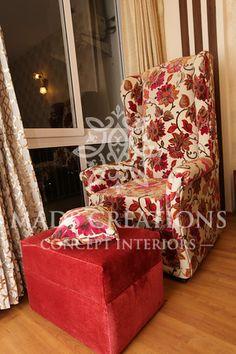 Furniture design. Floral sofa