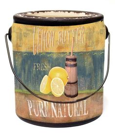 Take a look at this Lemon Butter Ceramic Candle today!