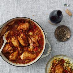 Kimchi-Braised Chicken with Bacon Recipe