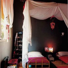 a tented bed in voile, Marie Claire Maison