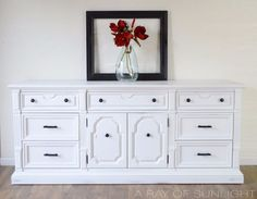 vintage dresser makeover in white chalk paint and oil rubbed hardware, chalk paint, painted furniture, painting Diy Dresser Makeover, Furniture Makeover, Furniture Ideas, Dresser Makeovers, Dresser Ideas, Furniture Design, Painting Old Furniture, Painted Furniture, Dresser Furniture