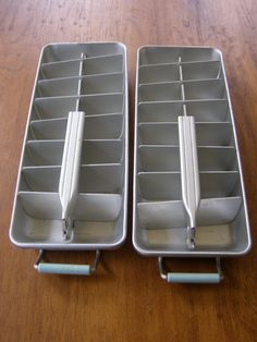 2 X Vintage Aluminium Ice Tray mid century. these worked. must get them from my parents