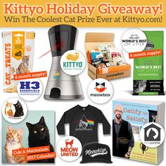 This holiday season enter to win The Coolest Cat Prize EVER!Entering is easy. Simply follow our newsletter, share our contest and follow us on social media to increase your odds of winning.There is one grand prize and the winner will be chos...