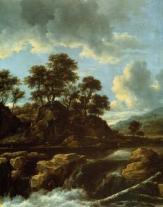 Jacob van Ruisdael - Waterval (1675)
