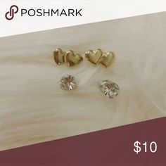 Two pairs of earing Great condition. One gold pair and one silver pair Jewelry Earrings
