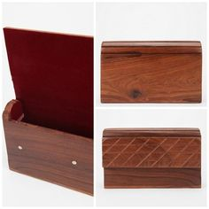 Wooden clutch boutique style