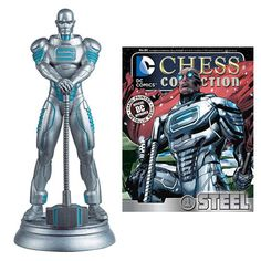 DC Chess Figurine Collection Magazine #84 - Steel / White Pawn