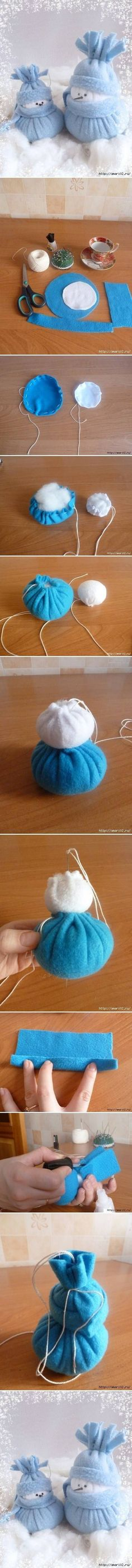 DIY Felt Snowman DIY Felt Snowman by diyforever