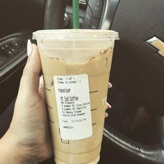 ☝️ venti order of getting shit done ☕️ Healthy Starbucks Drinks, Secret Starbucks Drinks, Starbucks Recipes, Starbucks Iced Coffee, Coffee Drinks, Yummy Drinks, Healthy Drinks, Gourmet Recipes, Healthy Recipes