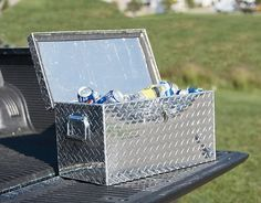 Aluminum Diamond Plate Ice Chest and Cooler