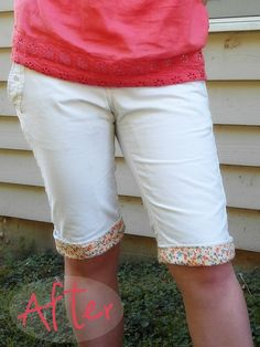 Pants to Shorts with cute fabric