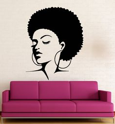 Sexy Curly Haired Nude Woman Wall Decal Sexy Living Space - Wall stickershuhushopxaudrey hepburn beautiful eyes removable