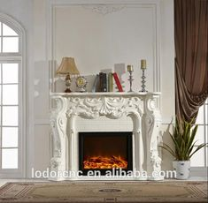 Wholesale french style decorative electric fireplace and mantel From m.alibaba.com Stove Fireplace, Fireplace Mantels, Fireplace Decorations, Fireplace Ideas, Electric Fireplace With Mantel, Moving Furniture, King Size Quilt, Wooden Picture