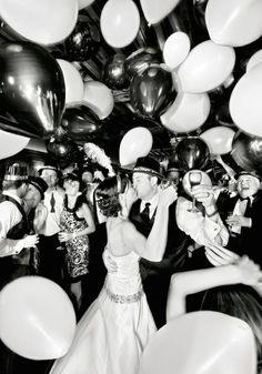 New Years Eve Wedding | Balloons | Bridal Musings Wedding Blog