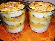 Eierlikör- Ananas- Mascarpone, ein beliebtes Rezept aus der Kategorie Cremes. Bewertungen: 7. Durchschnitt: Ø 3,9.