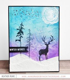 584 best cards winter snowflakes snow images on pinterest in greeting card with a winter theme tim holtz stamptember collaboration m4hsunfo