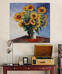 Look what I found on #zulily! Monet Sunflowers Replica Wrapped Canvas #zulilyfinds