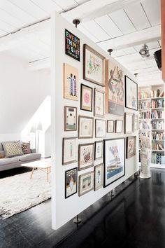 Art wall room divider (attic)