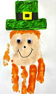 St. Patrick's Day kids art project ... cute!