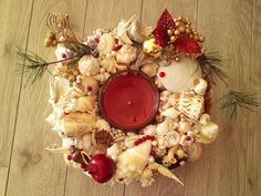 Items similar to Reduced last Seasonal Centerpiece. Item # 153 - Christmas Seaside Centerpiece - Complete your table with beautiful treasure from the Sea on Etsy Seashell Centerpieces, Summer Centerpieces, Christmas Centerpieces, Southern Charm, Tablescapes, Sea Shells, Seaside, Christmas Wreaths, Etsy Shop