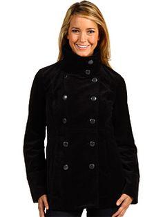 Calvin Klein Jeans Funnel Neck Velveteen Coat $71.23