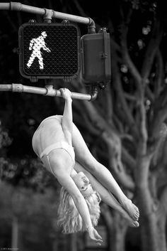 Dancing from a crosswalk sign!  Get some new dance attire or take some dance lessons at Loretta's in Keego Harbor, MI!  If you'd like more information just give us a call at (248) 738-9496 or visit our website www.lorettasdanceboutique.com!