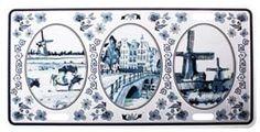 Typisch Hollands Kentekenplaat Delfts Blauw