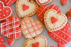 Xocolat and co: Galletas decoradas de corazón / Heart cookies
