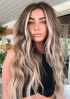 Unique Bronde Hair Color Ideas & Shades in 2019 to .- Einzigartige Bronde Haarfarbe Ideen & Shades im Jahr 2019 zu zeigen … nice unique bronde hair color ideas & shades to show in 2019 color - Blonde Hair Looks, Honey Blonde Hair, Balayage Hair Blonde, Blonde Wig, Bronde Haircolor, Bronde Balayage, Brown Hair Blonde Highlights, Balyage Long Hair, Front Highlights