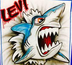 Airbrush Shark T-shirt, Airbrush tshirt, Ripping Shirt Shark, Shark, Airbrush Shark Airbrush Designs, Airbrush Art, Great White Shark Attack, Iron Maiden Albums, Airbrush Shirts, Leaf Cutout, Shark Art, Graffiti Alphabet, Air Brush Painting