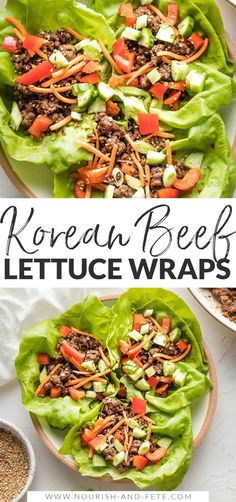 Use ground beef to make these Korean Beef Lettuce Wraps in less than 20 minutes! Delicious, healthy, easy to make; great for meal prep, too! Healthy Options, Easy Healthy Recipes, Easy Lettuce Wraps, Lunches And Dinners, Meals, Korean Beef, Wrap Recipes, Ground Beef, Meal Prep