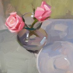 Carol Marine's Painting a Day, Apart but together, Dailypaintworks