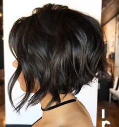 Here's to another brunette bob  curled with @hottoolspro 1 inch iron Haircut and styling by masterstylist Julie Holbrook @headrushdesignsbyjulieann To have your hair featured please tag @bobbedhaircuts #behindthechair #shorthairdontcare #stackedbob #1000pixiecuts #hashtagpixiecuts #citiesbesthairartists #nothingbutpixies #avesalon #avesalonogden #utahsalon #ogdensalon #utahstylist #stackedaline #shorthair #beautifinder #aline #stackedbob #texture #curls #hottools #brunette