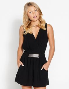 Image for Metal Bar Playsuit from Dotti. $60